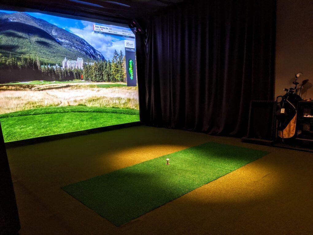 TCS hd golf simulator bay 1