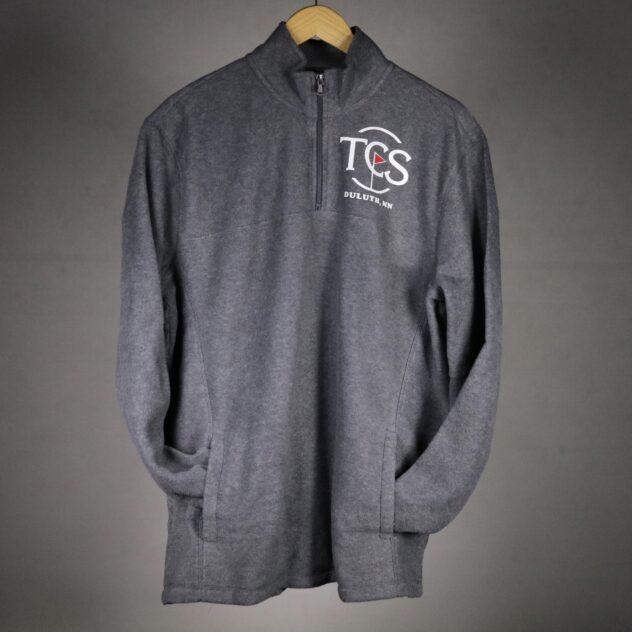 grey quarter zip tcs sweatshirt